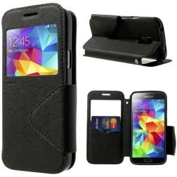 """""""Roar"""" atverčiamas odinis dėklas - juodas (Galaxy S5 mini)"""