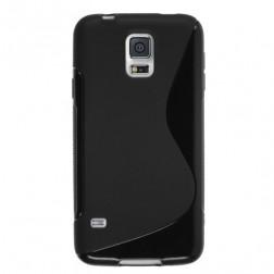 """""""S-Line"""" kieto silikono (TPU) dėklas - juodas (Galaxy S5 mini)"""