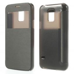 """Atverčiamas """"View Window"""" dėklas - juodas (Galaxy S5 mini)"""
