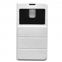"""""""Fashion"""" atverčiamas odinis dėklas - baltas (Galaxy S5 / S5 Neo)"""