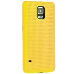 """""""Dots"""" kieto silikono (TPU) dėklas - geltonas (Galaxy S5 / S5 Neo)"""