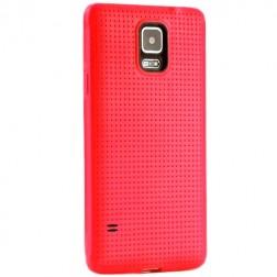 """""""Dots"""" kieto silikono (TPU) dėklas - raudonas (Galaxy S5 / S5 Neo)"""