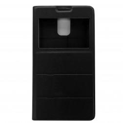 """""""Fashion"""" atverčiamas odinis dėklas - juodas (Galaxy S5 / S5 Neo)"""