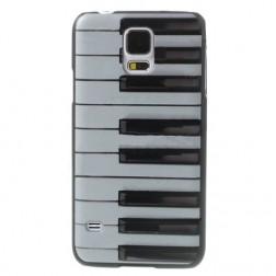 """""""Piano"""" plastikinis dėklas - baltas (Galaxy S5 / S5 Neo)"""