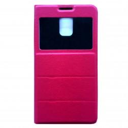 """""""Fashion"""" atverčiamas odinis dėklas - rožinis (Galaxy S5 / S5 Neo)"""