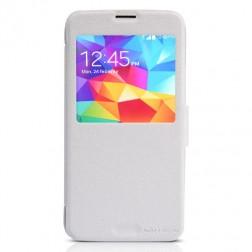 """""""Nillkin"""" Fresh atverčiamas dėklas - baltas (Galaxy S5 / S5 Neo)"""