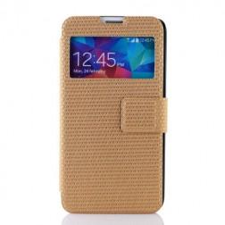 """""""Pintas"""" atverčiamas dėklas - auksinis (Galaxy S5 / S5 Neo)"""