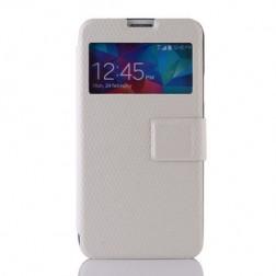 """""""Pintas"""" atverčiamas dėklas - baltas (Galaxy S5 / S5 Neo)"""