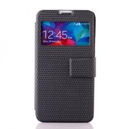 """""""Pintas"""" atverčiamas dėklas - juodas (Galaxy S5 / S5 Neo)"""