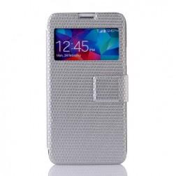 """""""Pintas"""" atverčiamas dėklas - sidabrinis (Galaxy S5 / S5 Neo)"""