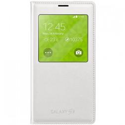 """""""Samsung"""" S View Cover atverčiamas dėklas - baltas (Galaxy S5 / S5 Neo)"""