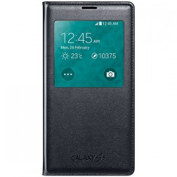"""""""Samsung"""" S View Cover atverčiamas dėklas - juodas (Galaxy S5 / S5 Neo)"""