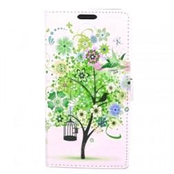 """""""Flower Tree"""" atverčiamas dėklas - baltas (Galaxy S5 / S5 Neo)"""