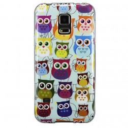 """""""Owls"""" kieto silikono (TPU) dėklas - spalvotas (Galaxy S5 / S5 Neo)"""