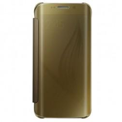 Plastikinis atverčiamas dėklas - auksinis (Galaxy S6)