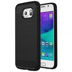 """""""Carbon"""" kieto silikono (TPU) dėklas - juodas (Galaxy S6)"""