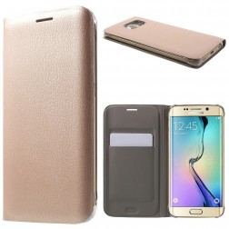 """""""Smart Wallet"""" atverčiamas dėklas - rožinis (Galaxy S6 Edge)"""