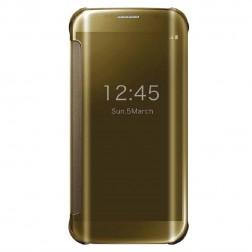 Plastikinis atverčiamas dėklas - auksinis (Galaxy S6 Edge)