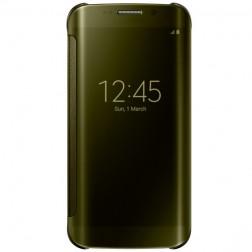 """""""Samsung"""" Clear View Cover atverčiamas dėklas - auksinis (Galaxy S6 Edge)"""