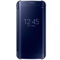 """Samsung"" Clear View Cover atverčiamas dėklas - mėlynas (Galaxy S6 Edge)"