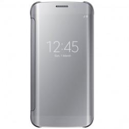 """""""Samsung"""" Clear View Cover atverčiamas dėklas - sidabrinis (Galaxy S6 Edge)"""