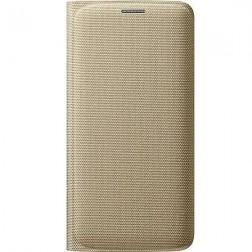 """""""Samsung"""" Flip Wallet Cover atverčiamas dėklas - auksinis (Galaxy S6 Edge)"""