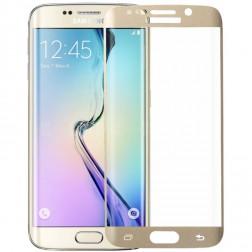 """""""MOFI"""" Tempered Glass apsauginis ekrano stiklas 0.33 mm - auksinis (Galaxy S6 Edge)"""