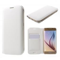 """""""Smart Wallet"""" atverčiamas dėklas - baltas (Galaxy S6 Edge)"""