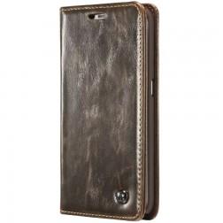 """""""CaseMe"""" solidus atverčiamas dėklas - rudas (Galaxy S6 Edge)"""