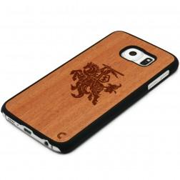 """""""Crafted Cover"""" natūralaus medžio dėklas - Vytis (Galaxy S6 edge)"""