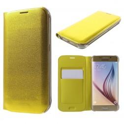 """""""Smart Wallet"""" atverčiamas dėklas - geltonas (Galaxy S6 Edge)"""