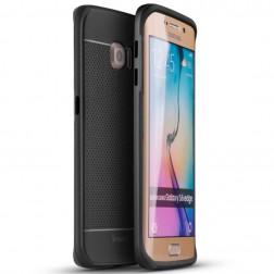 """""""IPAKY"""" kieto silikono (TPU) dėklas - juodas / pilkas (Galaxy S6 Edge)"""