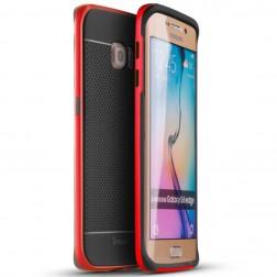 """""""IPAKY"""" kieto silikono (TPU) dėklas - juodas / raudonas (Galaxy S6 Edge)"""