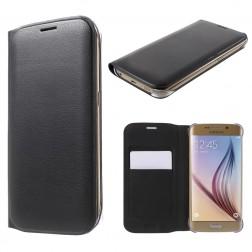 """""""Smart Wallet"""" atverčiamas dėklas - juodas (Galaxy S6 Edge)"""