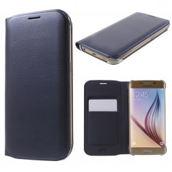 """""""Smart Wallet"""" atverčiamas dėklas - mėlynas (Galaxy S6 Edge)"""