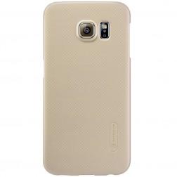 """""""Nillkin"""" Frosted Shield dėklas - auksinis + apsauginė ekrano plėvelė (Galaxy S6 Edge)"""