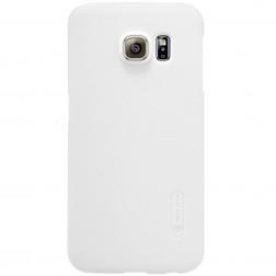 """""""Nillkin"""" Frosted Shield dėklas - baltas + apsauginė ekrano plėvelė (Galaxy S6 Edge)"""