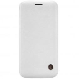 """""""Nillkin"""" Qin atverčiamas dėklas - baltas (Galaxy S6 Edge)"""
