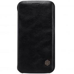 """""""Nillkin"""" Qin atverčiamas dėklas - juodas (Galaxy S6 Edge)"""