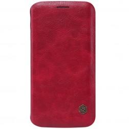 """""""Nillkin"""" Qin atverčiamas dėklas - raudonas (Galaxy S6 Edge)"""