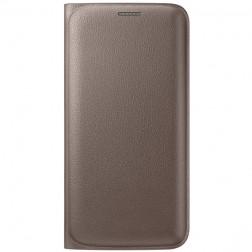"""""""Samsung"""" Flip Wallet atverčiamas dėklas - auksinis (Galaxy S6 Edge)"""
