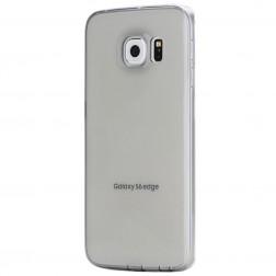 """""""ROCK"""" Jacket TPU skaidrus dėklas - pilkas (Galaxy S6 Edge)"""