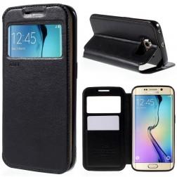 """""""Roar"""" Noble atverčiamas dėklas - juodas (Galaxy S6 Edge)"""
