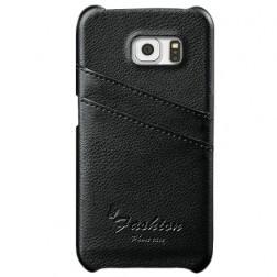 """""""Vintage"""" dėklas su kišenėle - juodas (Galaxy S6 Edge)"""