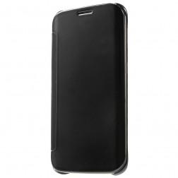 Plastikinis atverčiamas dėklas - juodas (Galaxy S6 Edge)