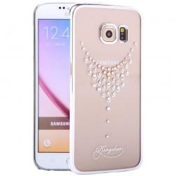 """""""Kingxbar"""" Necklace Swarovski dėklas - sidabrinis (Galaxy S6 Edge)"""