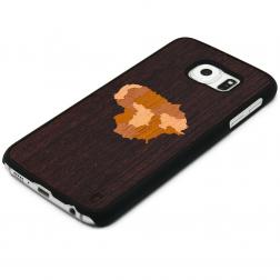"""""""Crafted Cover"""" natūralaus medžio dėklas - Lietuva (Galaxy S6 edge)"""
