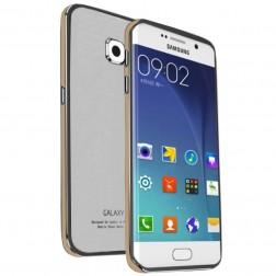 """""""Luphie"""" stiklinis dėklas - baltas / auksinis (Galaxy S6 Edge)"""