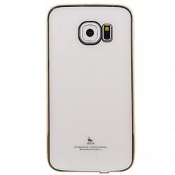 """""""Luphie"""" plastikinis dėklas - baltas (Galaxy S6 Edge)"""