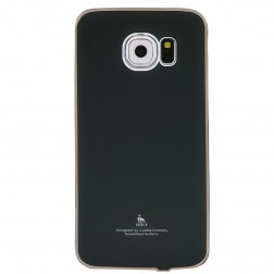 """""""Luphie"""" plastikinis dėklas - juodas (Galaxy S6 Edge)"""